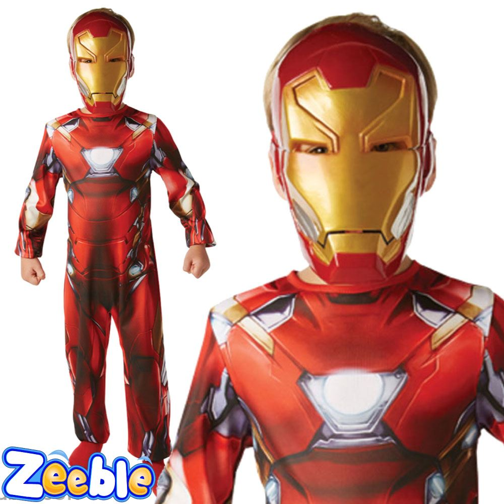 bambini capitan america o costume di iron man guerra civile ragazzi supereroe costume ebay. Black Bedroom Furniture Sets. Home Design Ideas