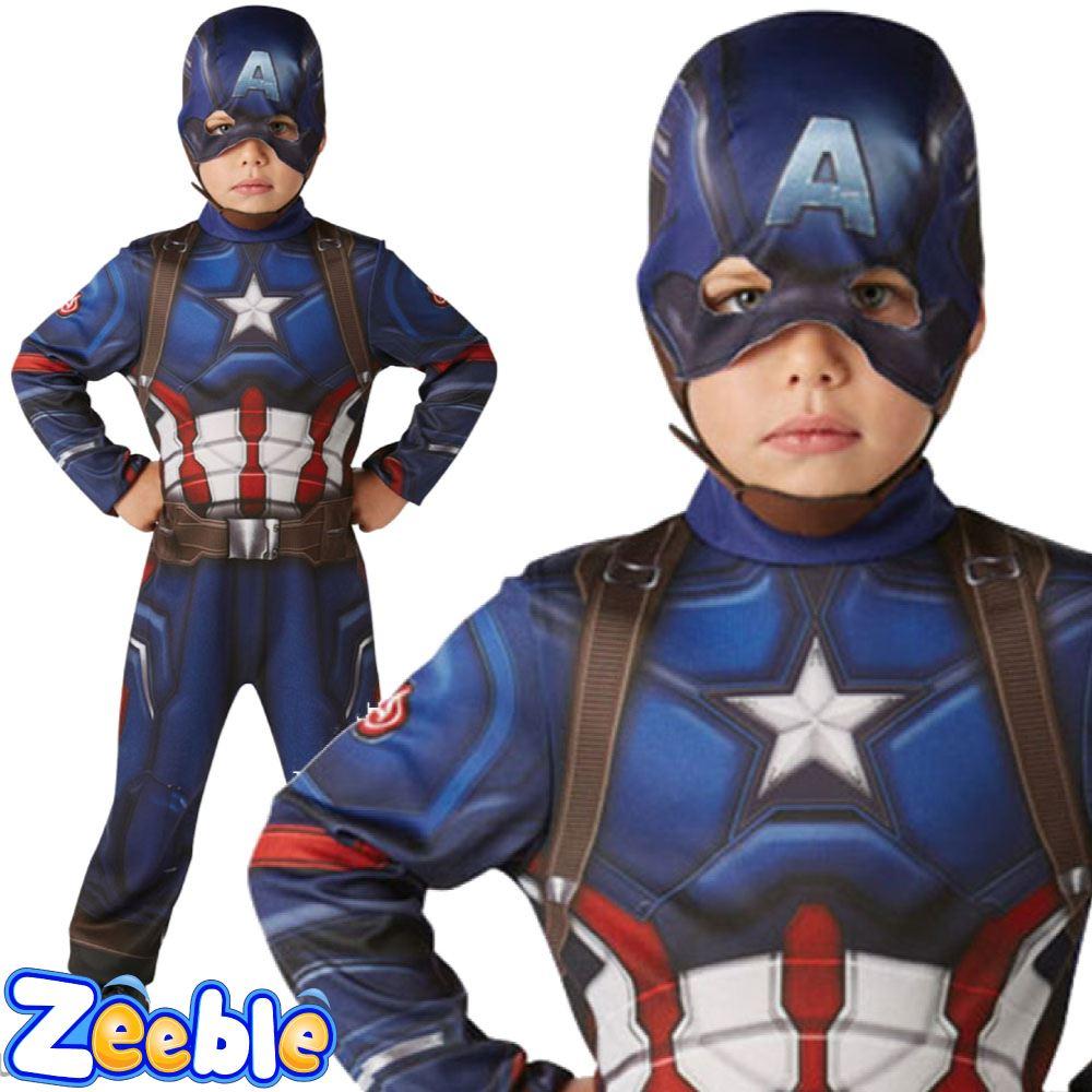 Kids-Captain-America-or-Iron-Man-Costume-CIVIL-  sc 1 st  eBay & Kids Captain America or Iron Man Costume CIVIL WAR Boys Superhero ...