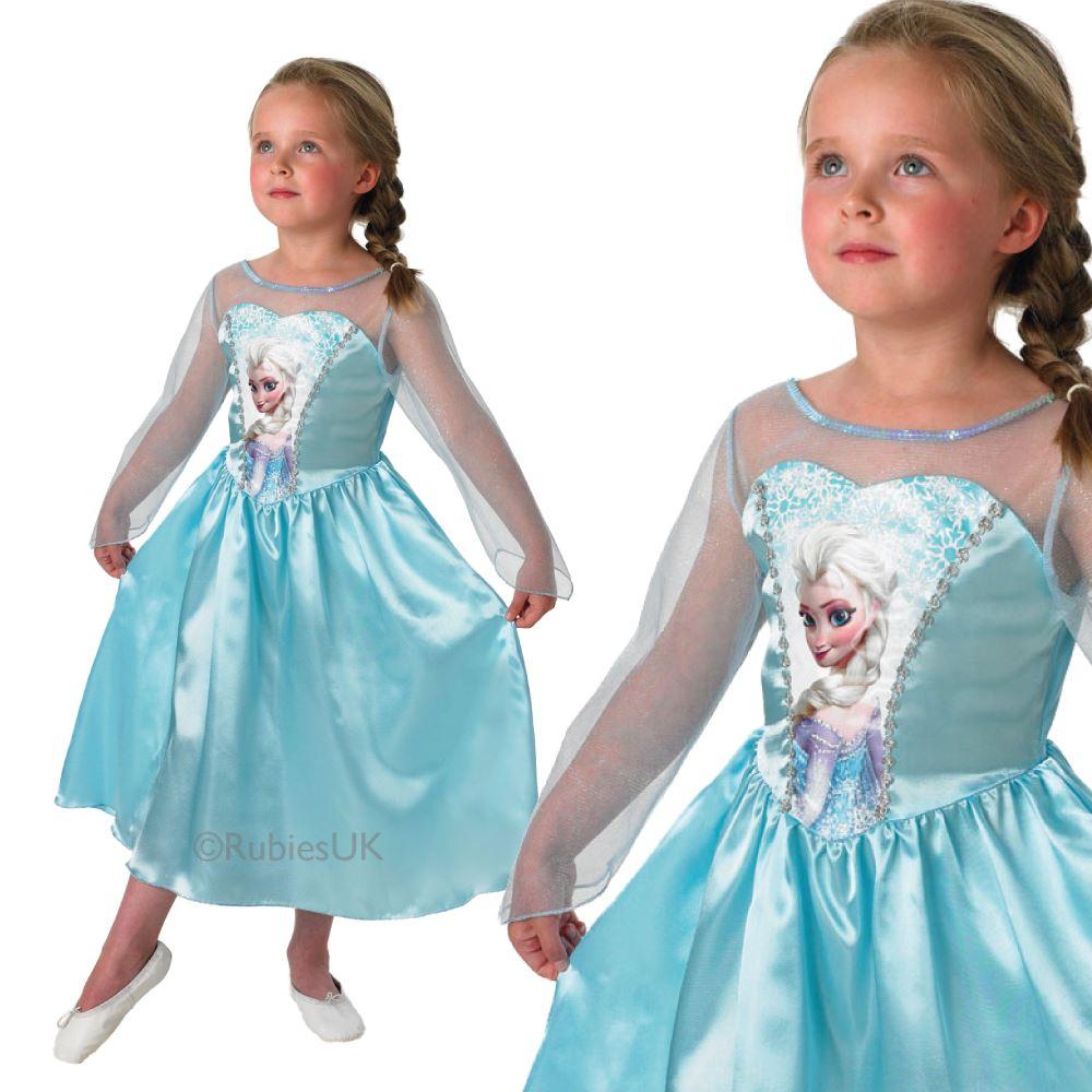 Girls Book Week Fancy Dress Costume Alice Anna Elsa Frozen Barbie ...