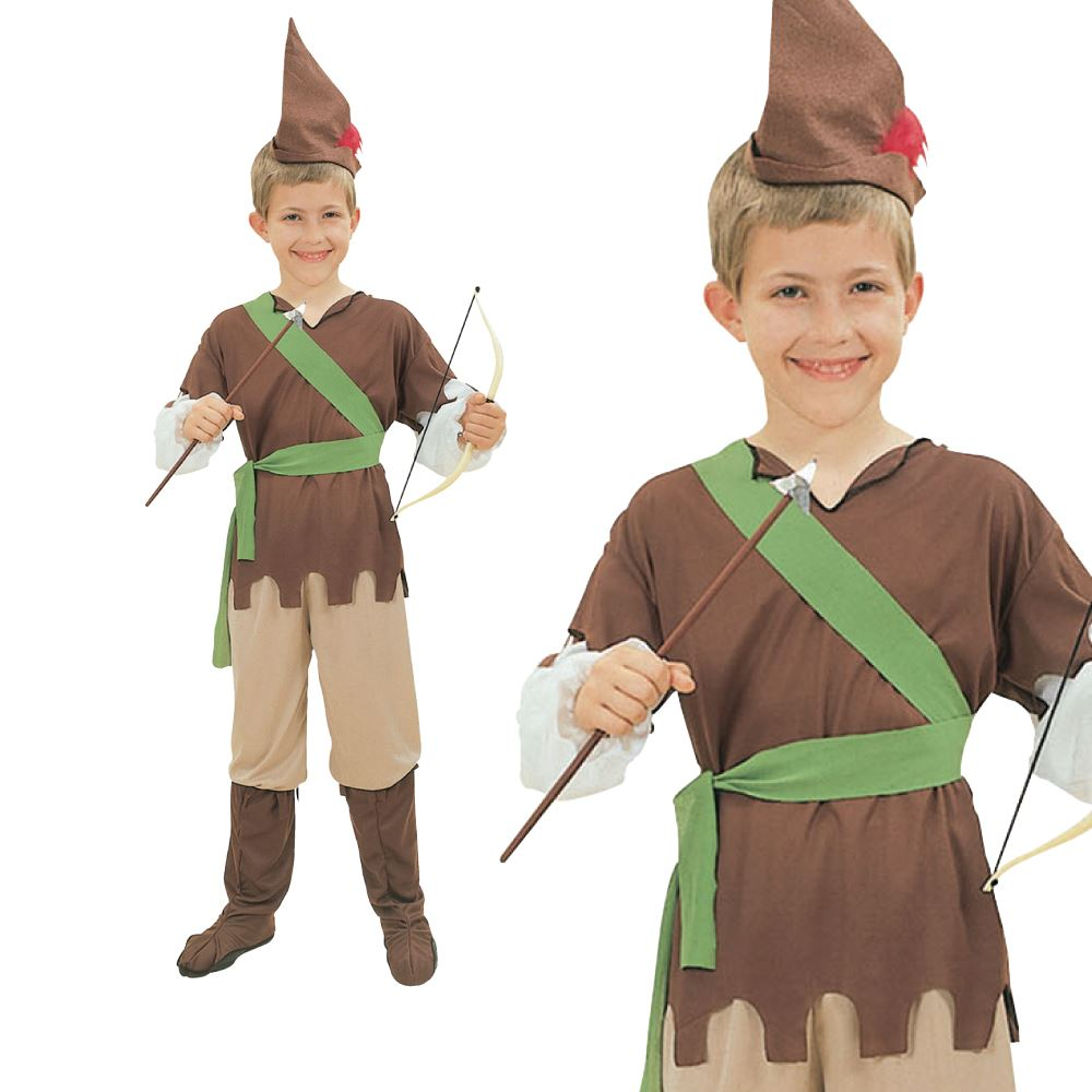 be3c0e8ef0d Summary -  Diy Handmade Kids Robin Hood And Friar Tuck Halloween ...