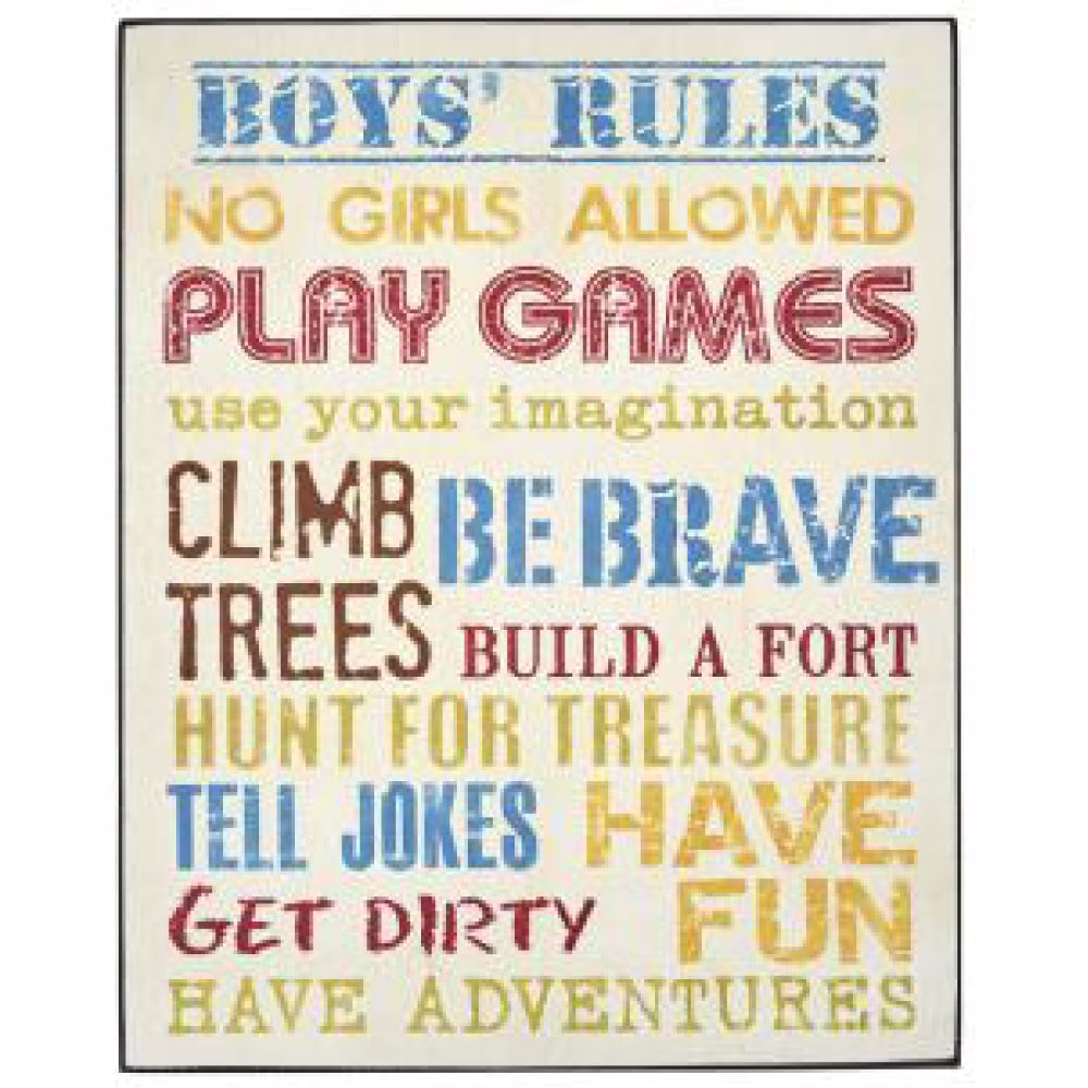Boys Rules Wooden Sign Or Girls Rules Funny Plaque For