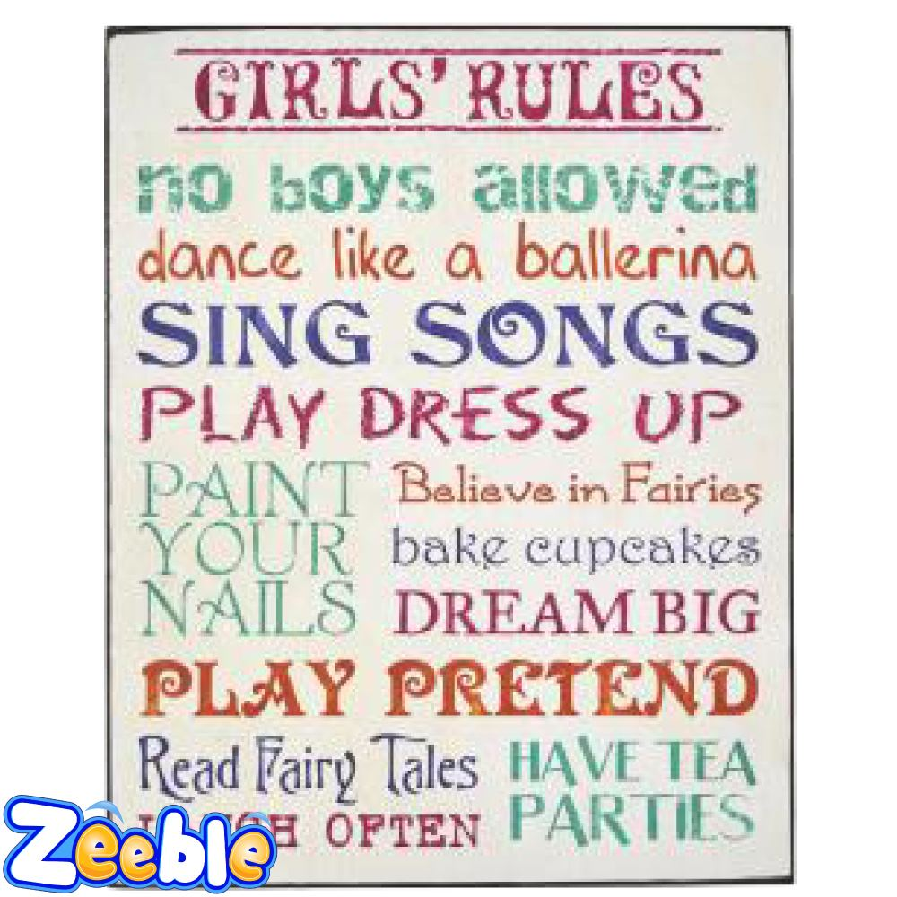 Funny Boys Rules Sign Or Girls Rules Sign