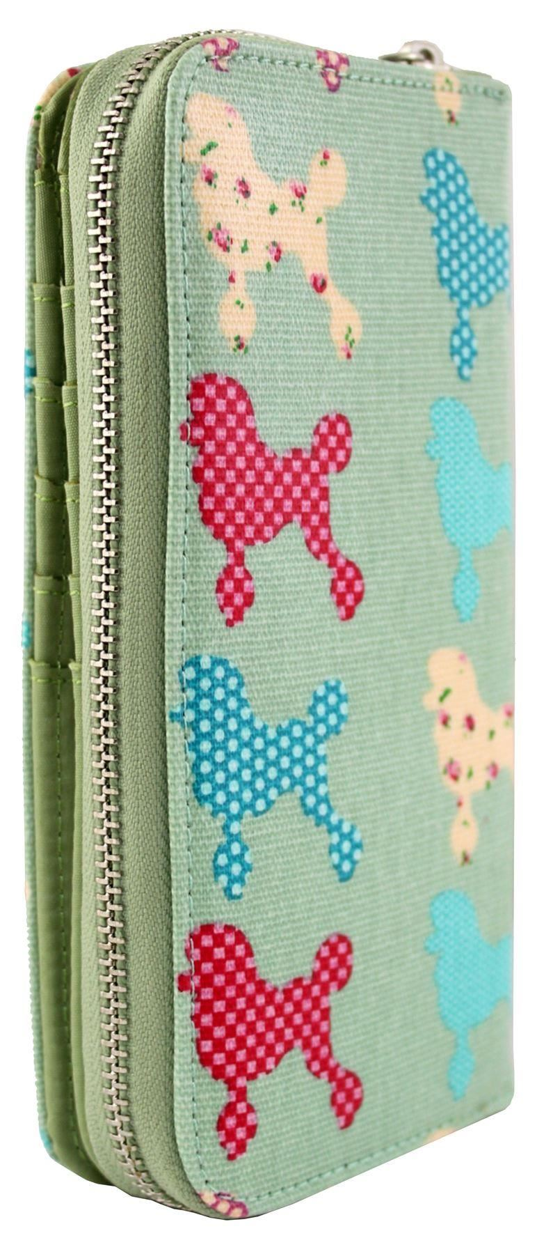 NUOVO Ragazze SIGNORE GRANDI CHIHUAHUA Poodle PATTERN Wallet Purse