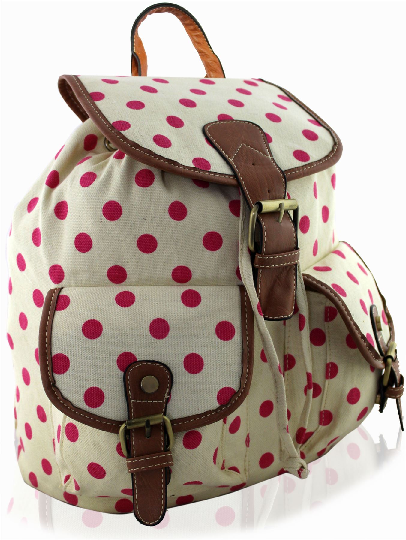 Fanci 3Pcs Polka Dot Princess Style Elementary Kids School Backpack Bookbag Set for Teens Girls School Bag with Lunch Kits.