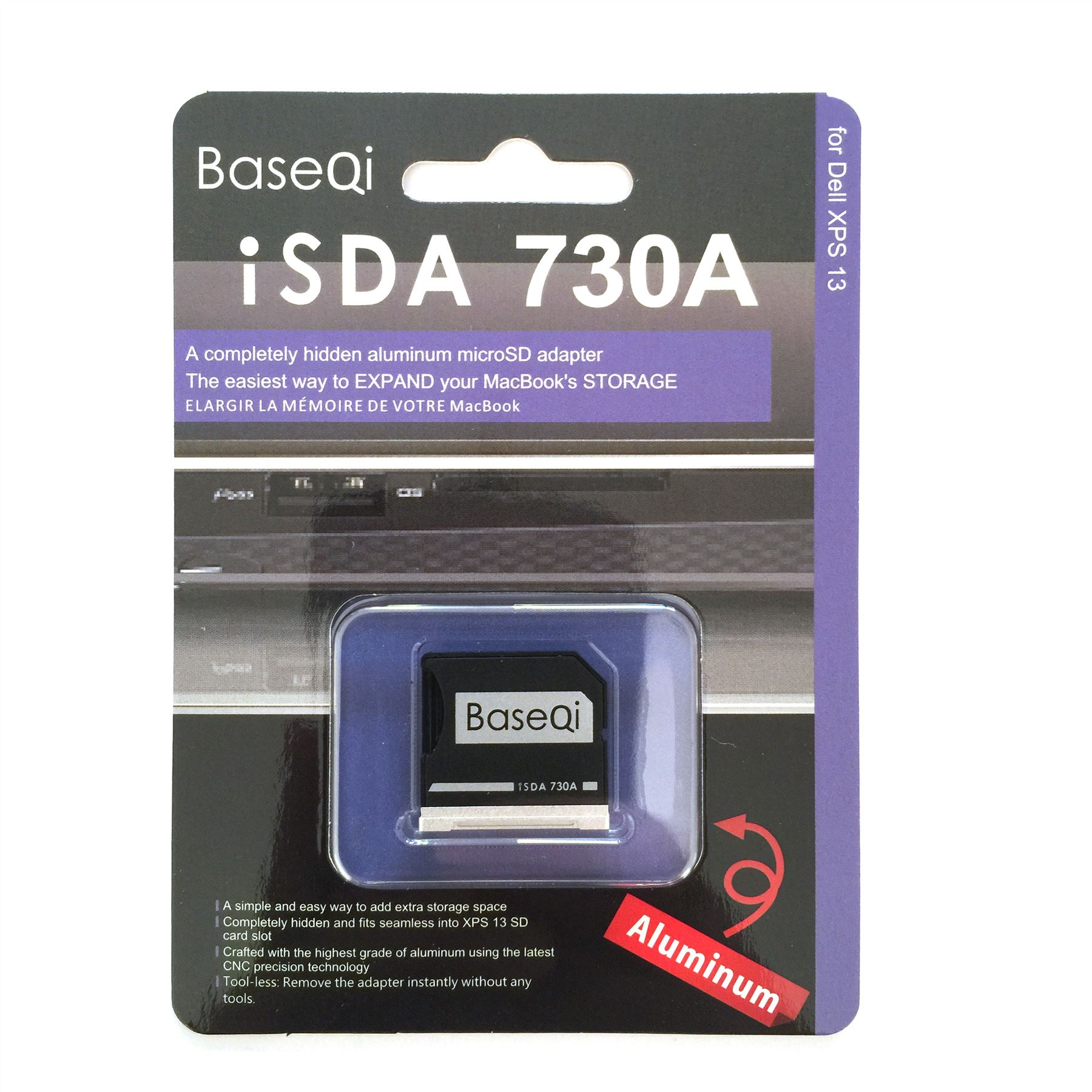 baseqi micro sd card drive adapter for dell xps 13 15 inch ebay. Black Bedroom Furniture Sets. Home Design Ideas