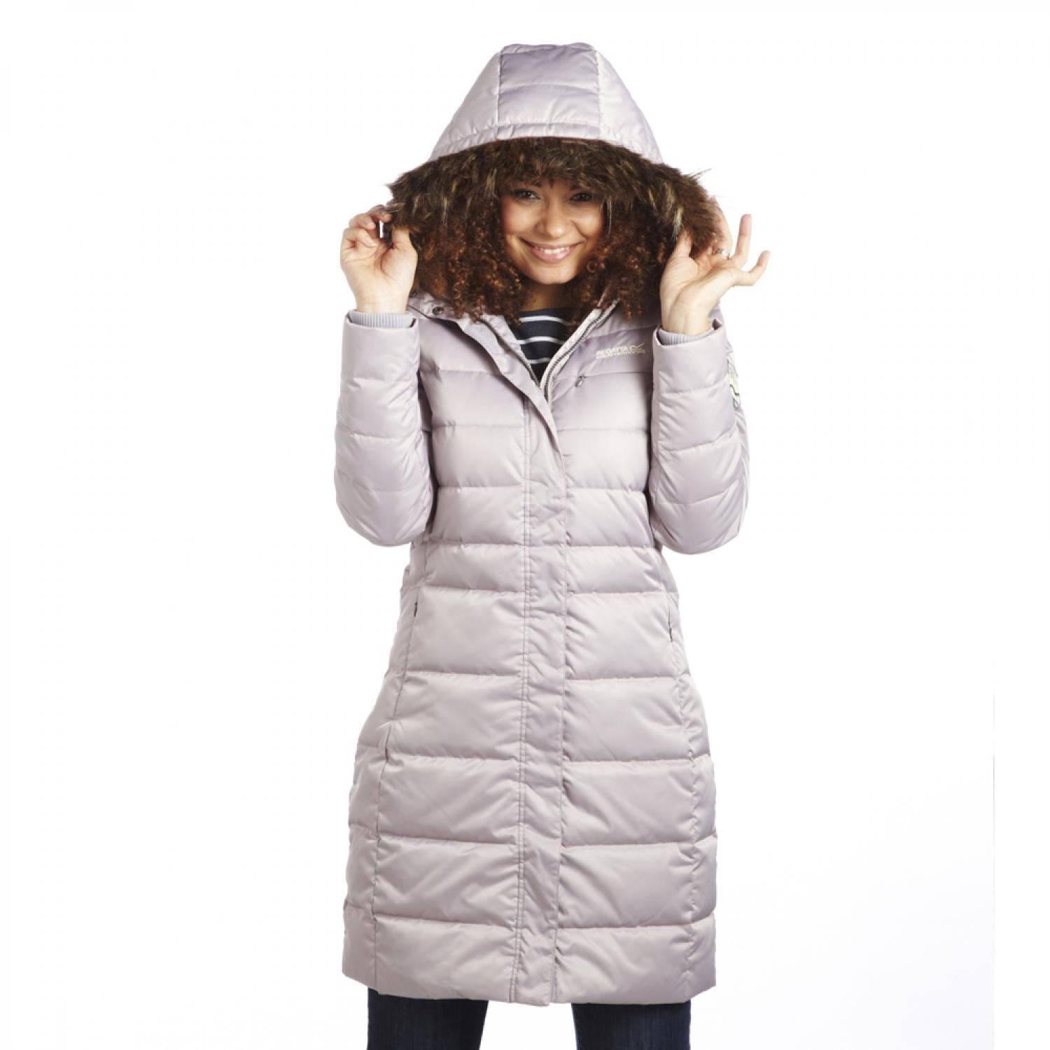 Regatta Annushka Parka Ladies Heritage long line quilted down ...