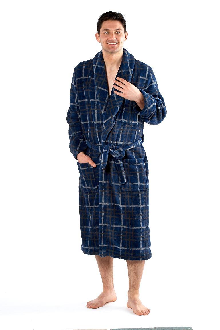 mens deluxe luxury dressing gown robe bathrobe soft winter warm fleece wrap ebay. Black Bedroom Furniture Sets. Home Design Ideas