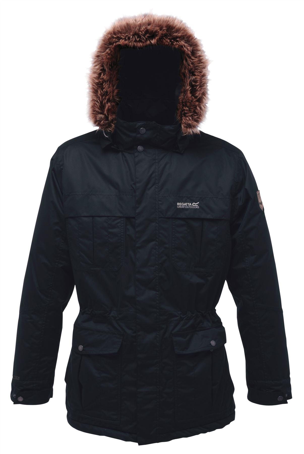 Regatta Landbreak Mens Parka Waterproof Breathable Insulated Winter Jacket