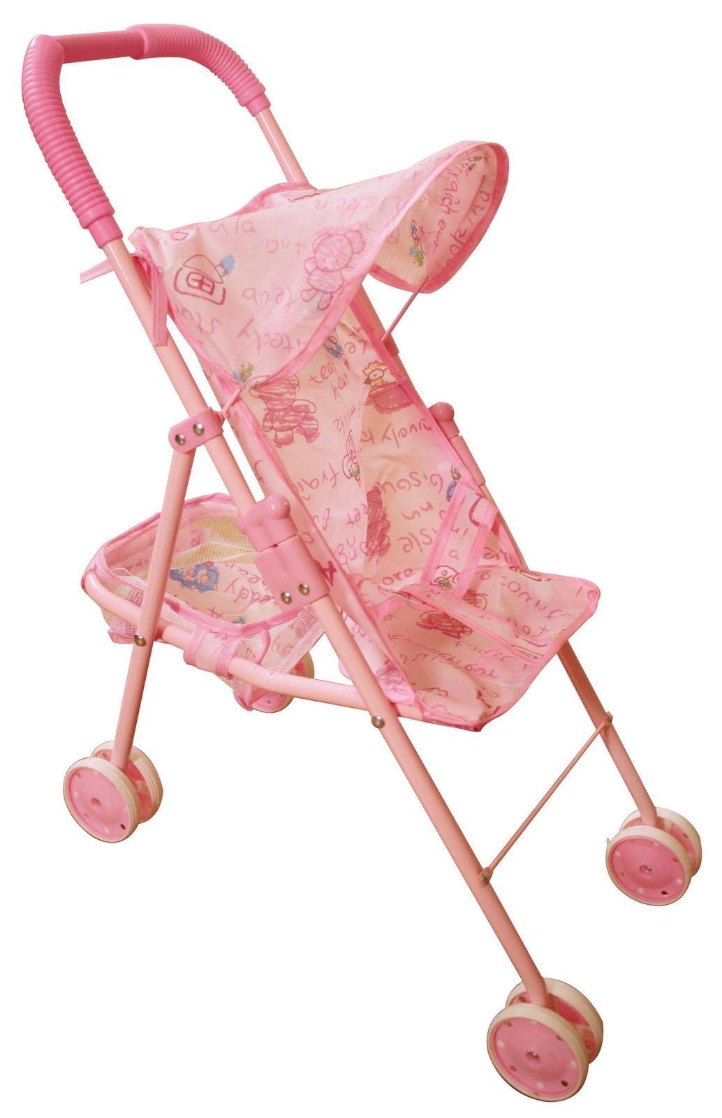 Cochecito carro silla de paseo de 4 ruedas para mu ecas for Sillas para autos para ninos 4 anos