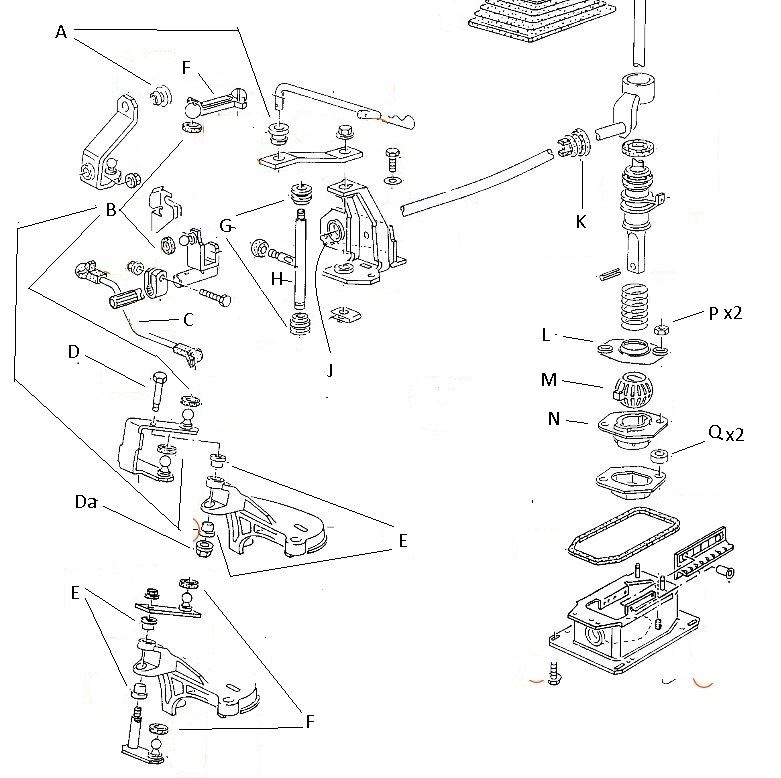 gear shift repair kit 4  u0026 5 speed vw golf mk2 jetta 1 6