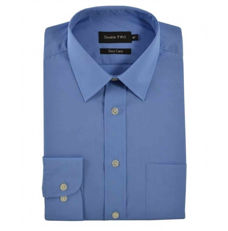 Double two extra tall fit long sleeved formal shirts size for Extra long shirts for tall men