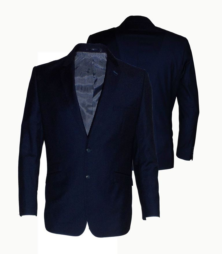 Da-Uomo-Formale-Classic-Fit-SINGLE-breates-SUIT-GIACCA-CON-INCHIOSTRO-BLU-Jeff