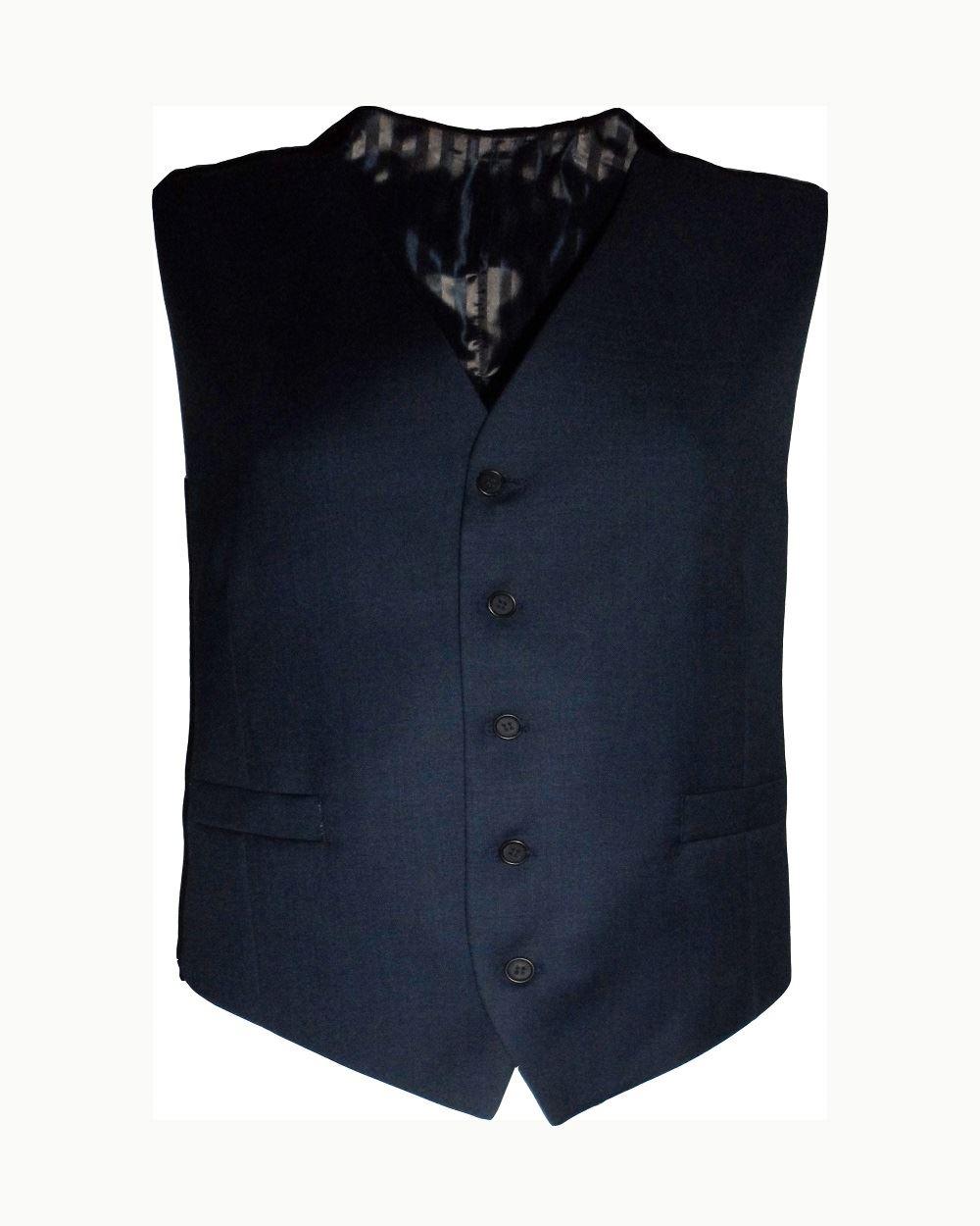 SCOTT  Herren Formal Wool Blend Waist Coat in Ink Blau in Chest 36 to 60 Inches