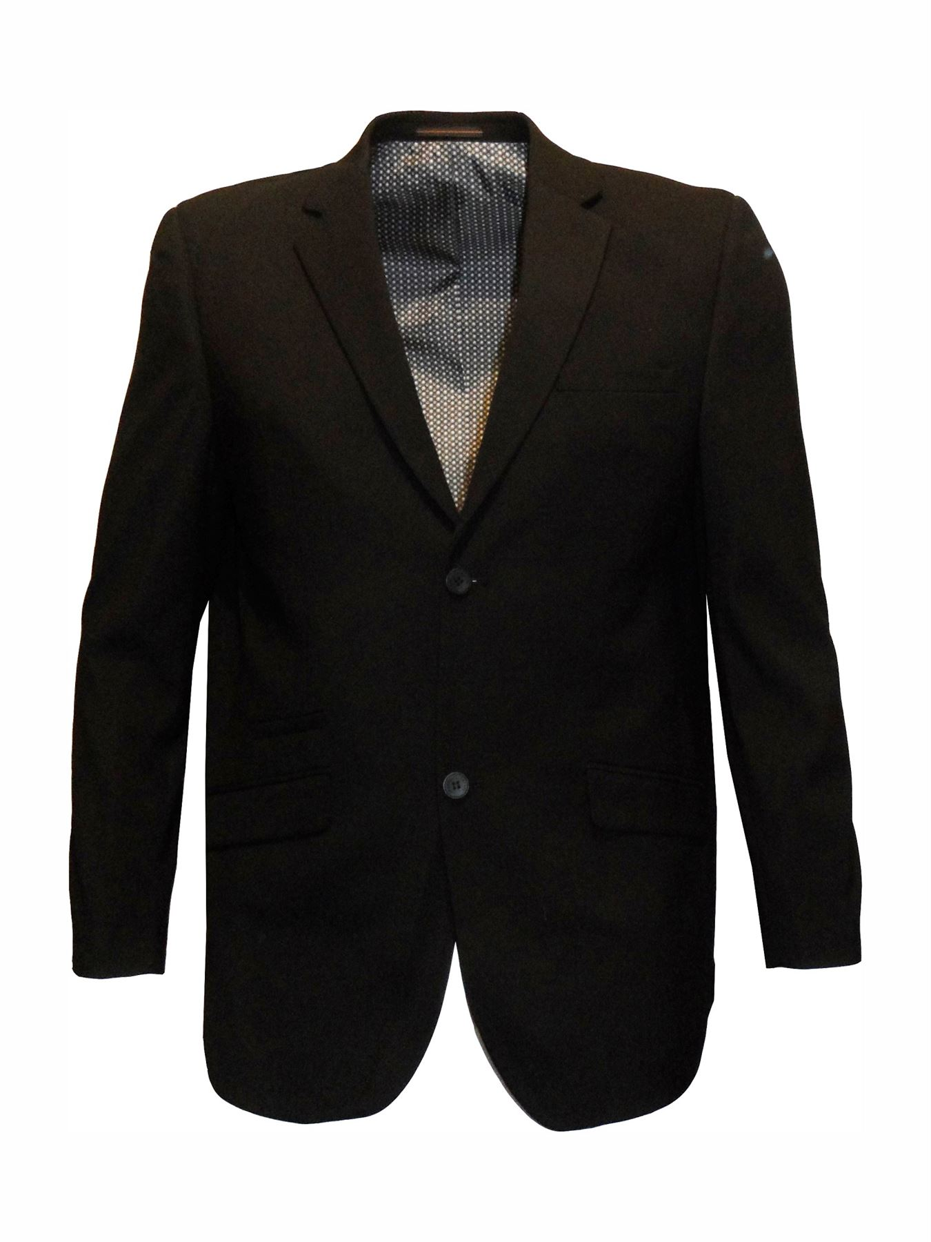 Mens Formal Regular Fit Plain Black Suit Jacket (Felix) in Size 36 ...