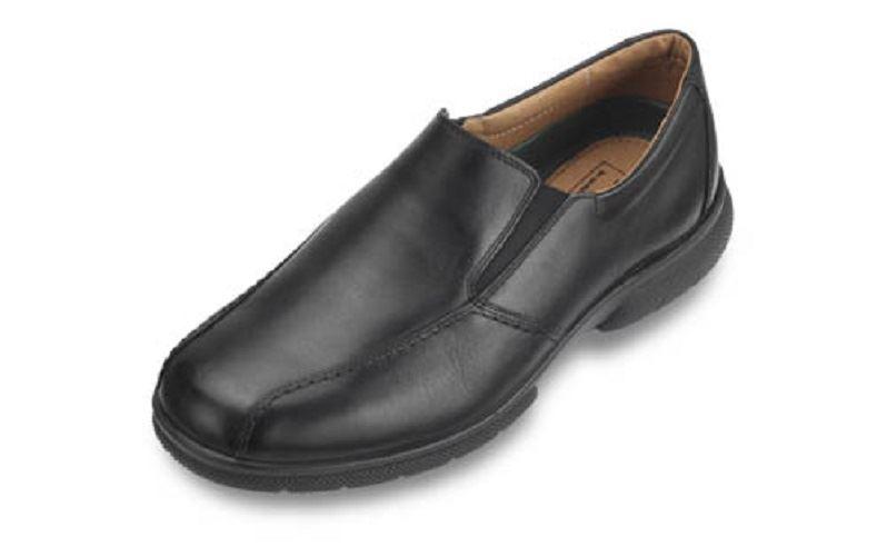 Scarpe DB Newport mocassini calzature in cuoio in nero, (6e-8e adatta) EXTRA EXTRA WIDE Scarpe classiche da uomo