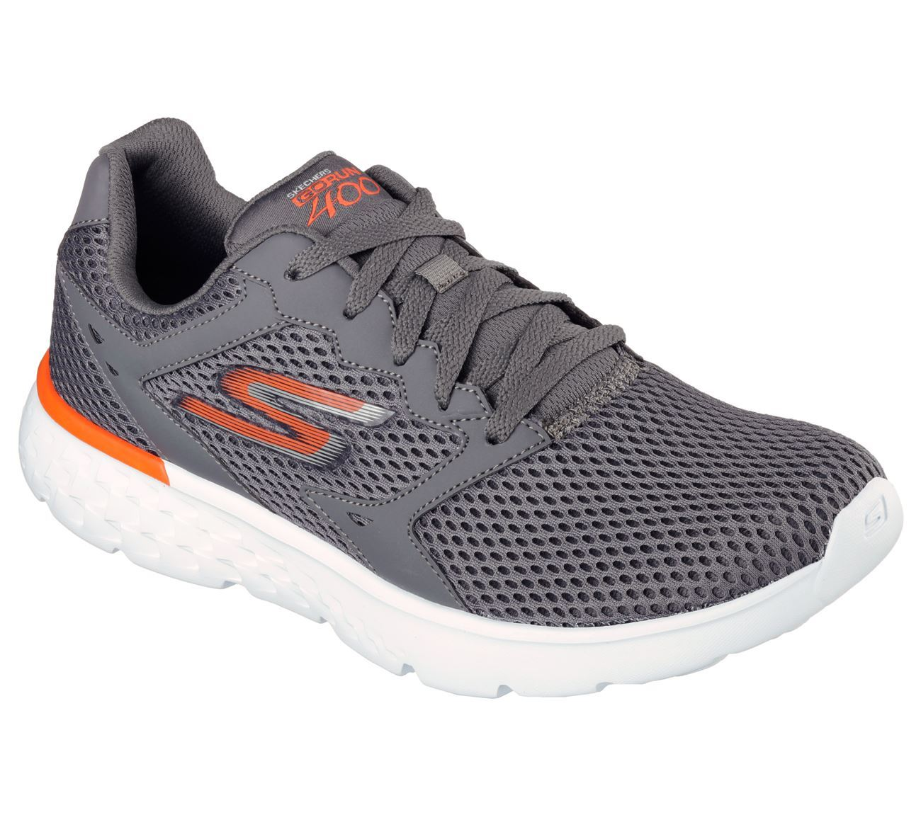 SKECHERS para Carbón/Naranja, Hombre Correr Entrenadores en Go Run 400 Carbón/Naranja, para Tamaño UK5.5-UK13 55eccf
