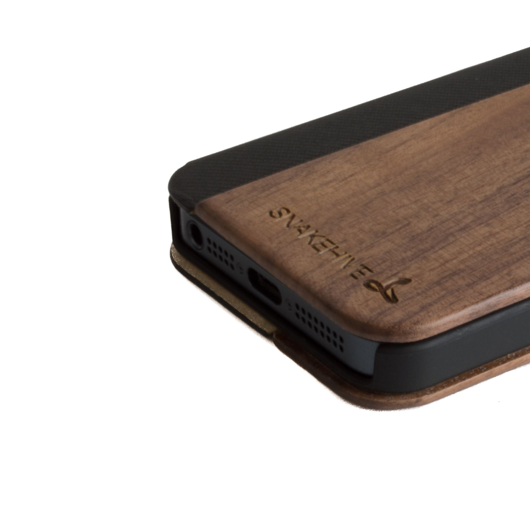 Snakehive real wood leather wallet flip case cover for apple iphone 5 5s ebay - Iphone 5s leather case ...