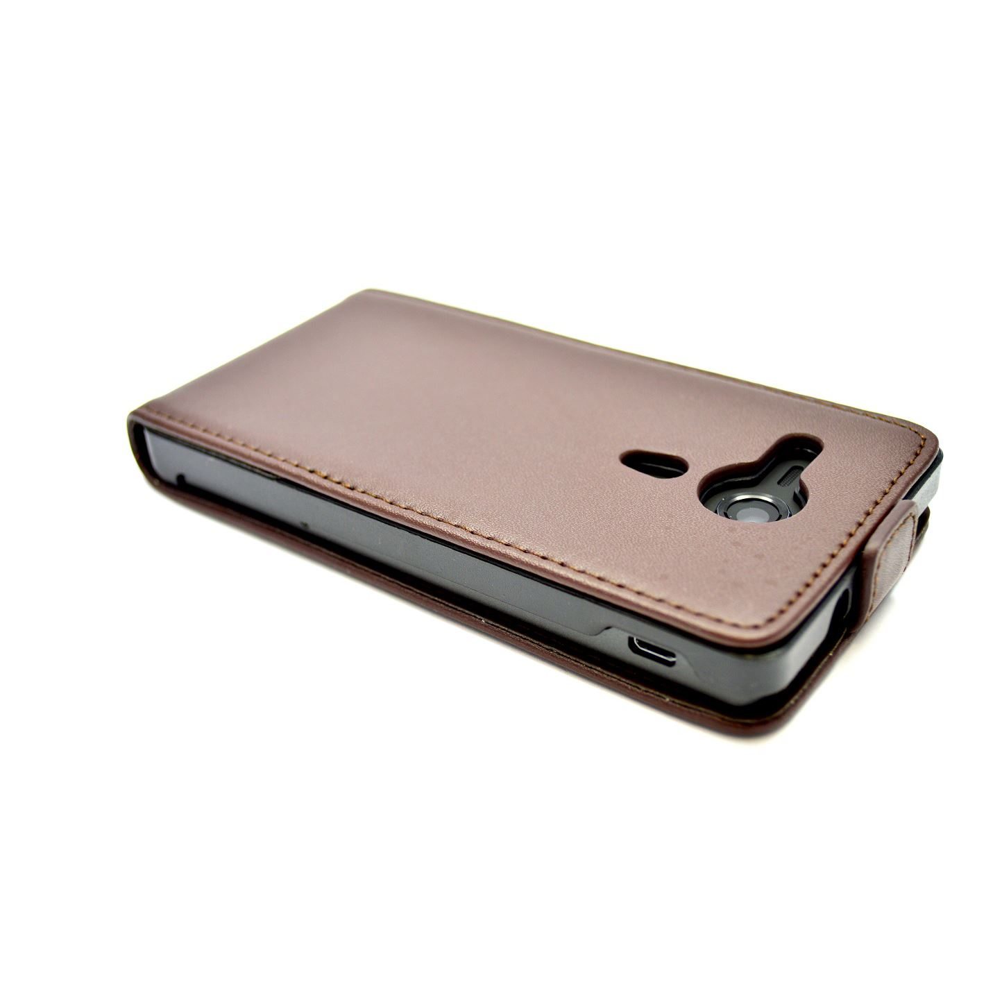 ... about SNAKEHIVEu00ae Premium Leather Flip Case Cover for Sony Xperia SP