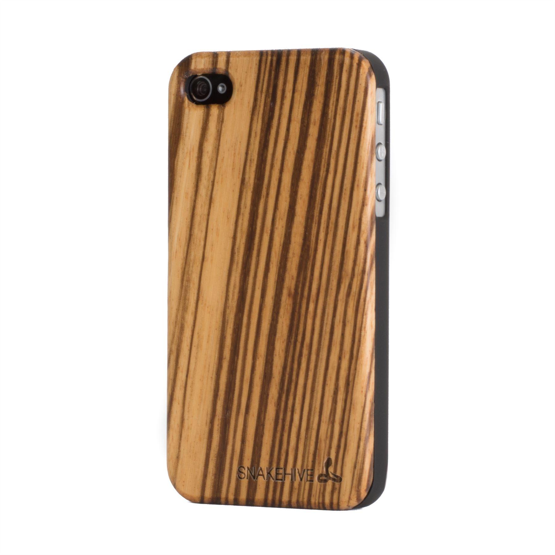 snakehive real wooden back case cover for apple iphone 4 4s natural wood ebay. Black Bedroom Furniture Sets. Home Design Ideas