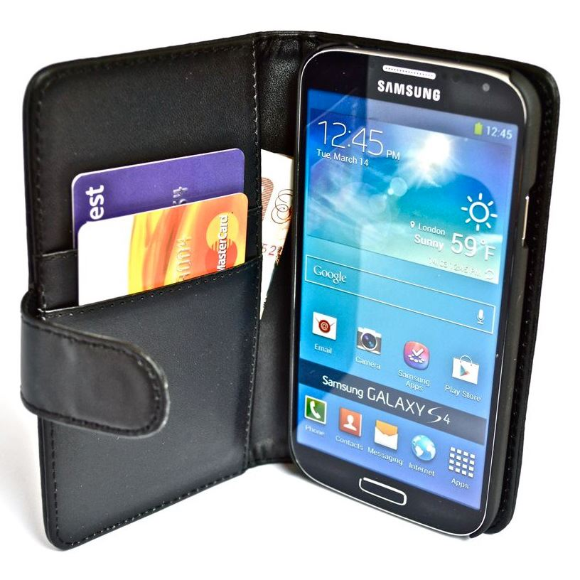 SNAKEHIVE® Premium Leather Wallet Flip Case Cover for Samsung Galaxy S4