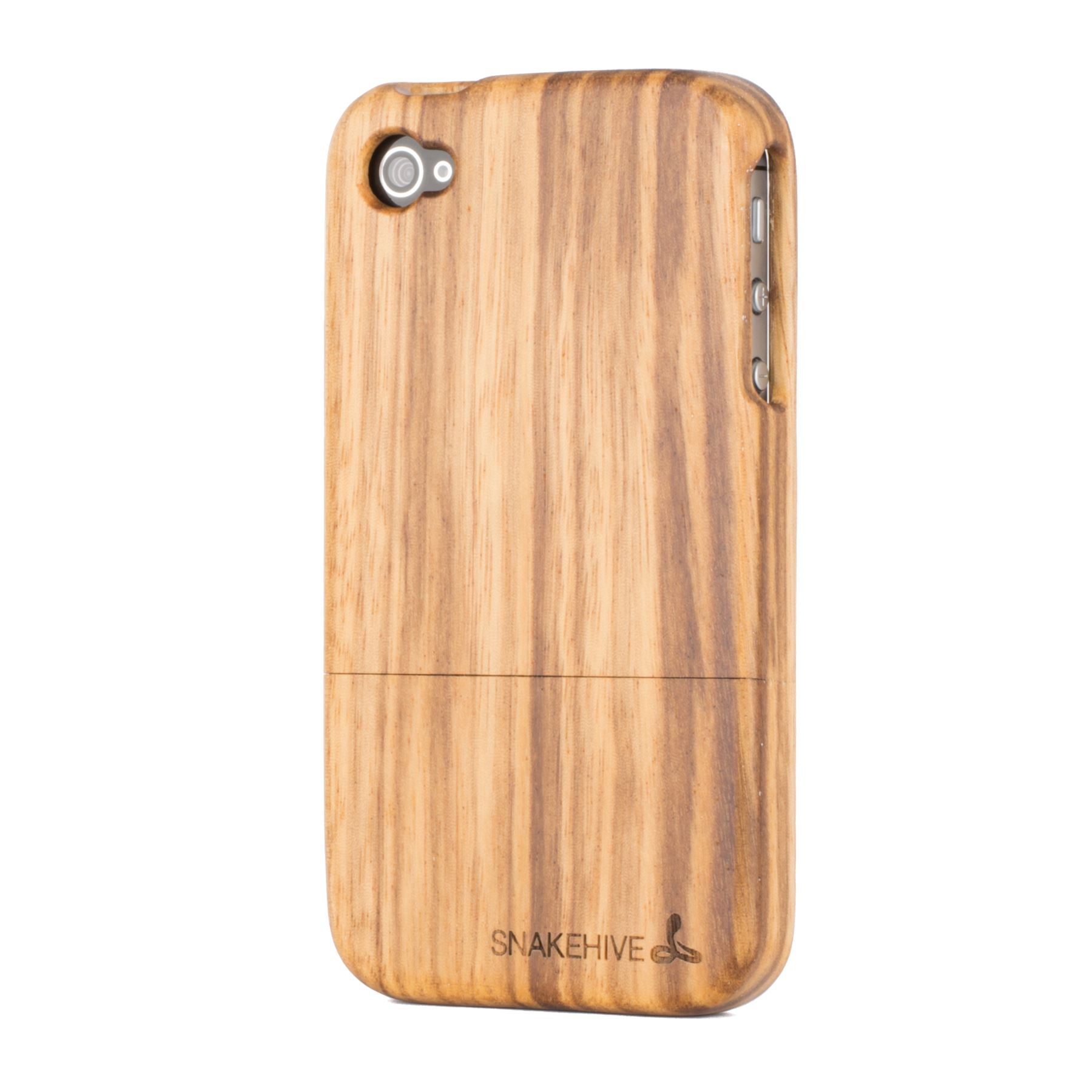 snakehive real solid wooden case cover for apple iphone 4 4s natural wood ebay. Black Bedroom Furniture Sets. Home Design Ideas