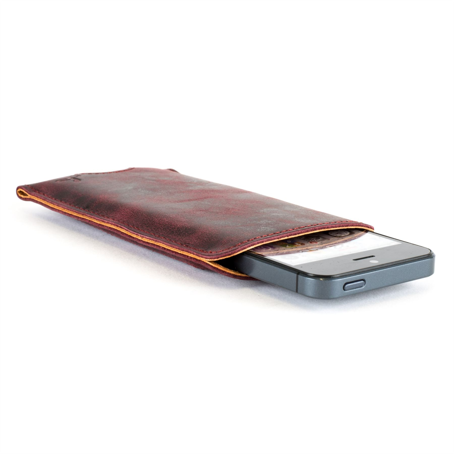 Snakehive vintage nubuck leather pouch case cover for apple iphone 5 5s se ebay - Iphone 5s leather case ...