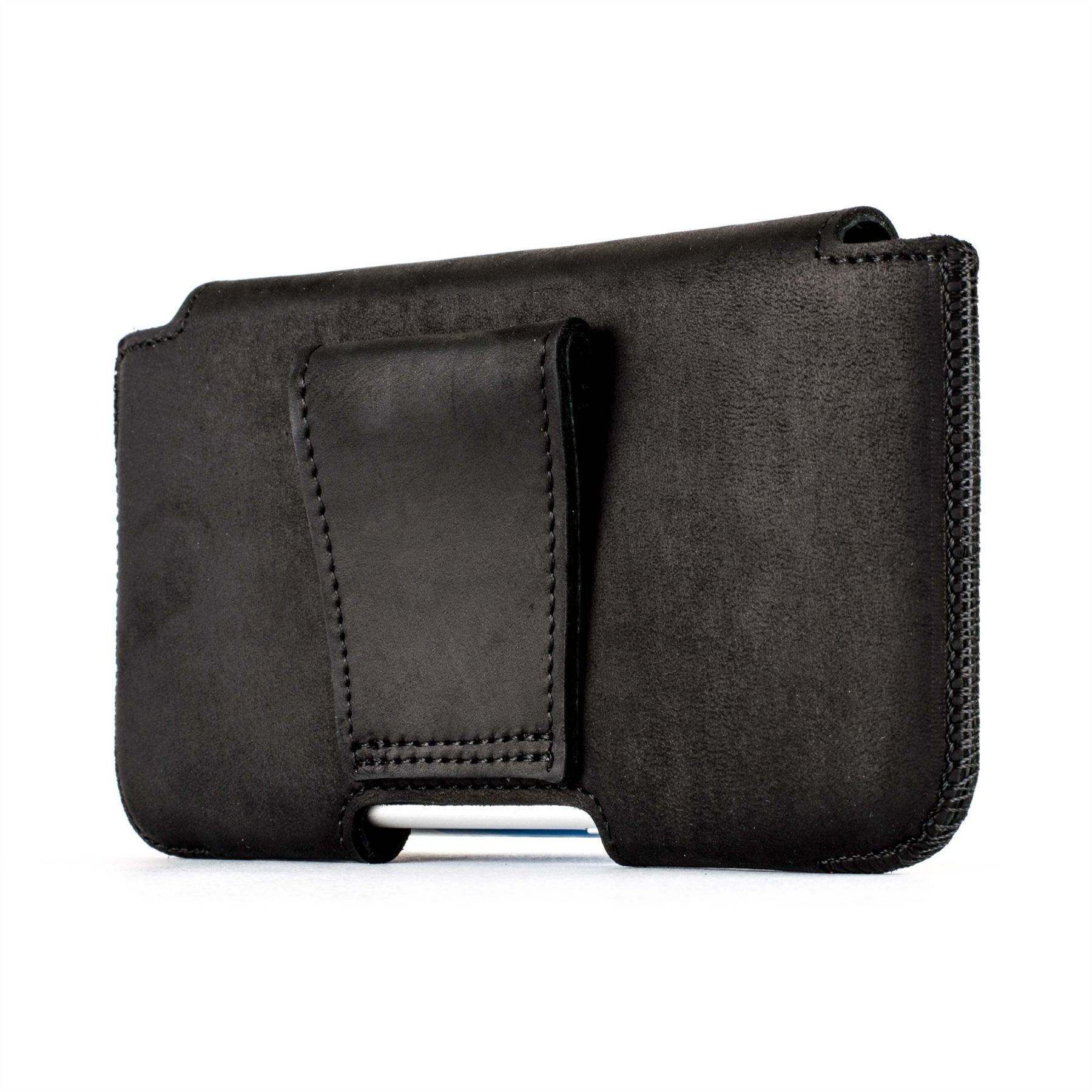 Snakehive real leather belt pouch case holder for apple iphone 5 5s se ebay - Iphone 5s leather case ...