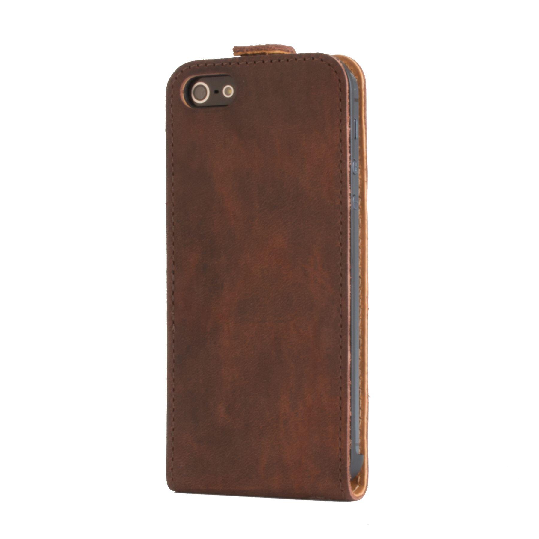 snakehive vintage nubuck leather flip case cover for apple iphone 5 5s ebay. Black Bedroom Furniture Sets. Home Design Ideas