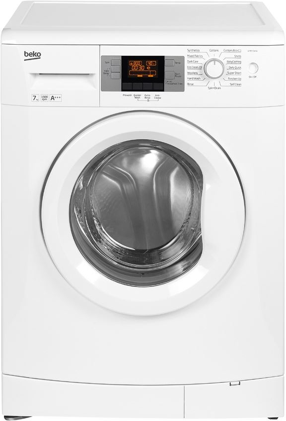 beko washing machine 7kg 1500 rpm wmb71543w white. Black Bedroom Furniture Sets. Home Design Ideas