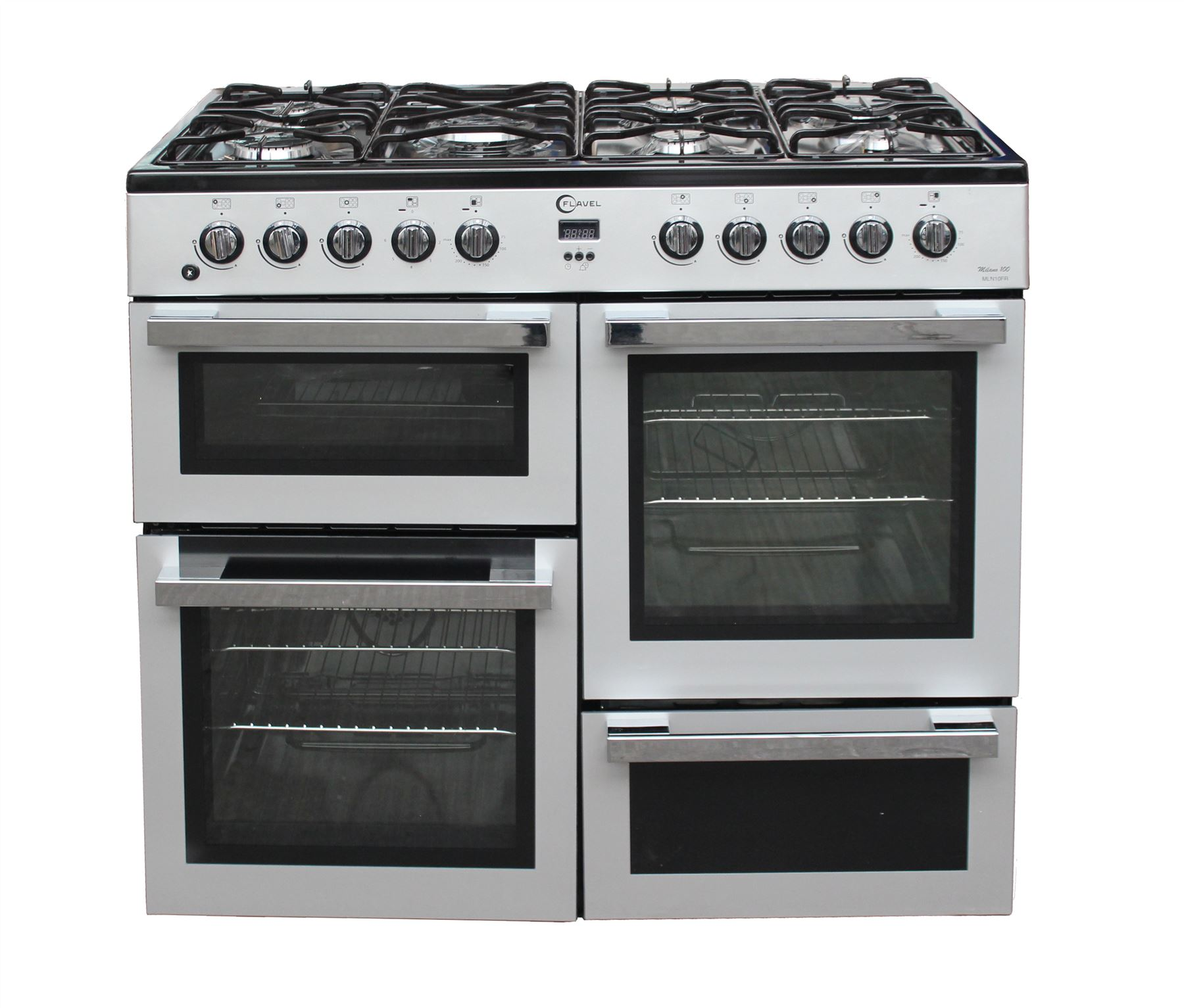 Double Double 100cm : Flavel cm range cooker dual fuel mln frs burner