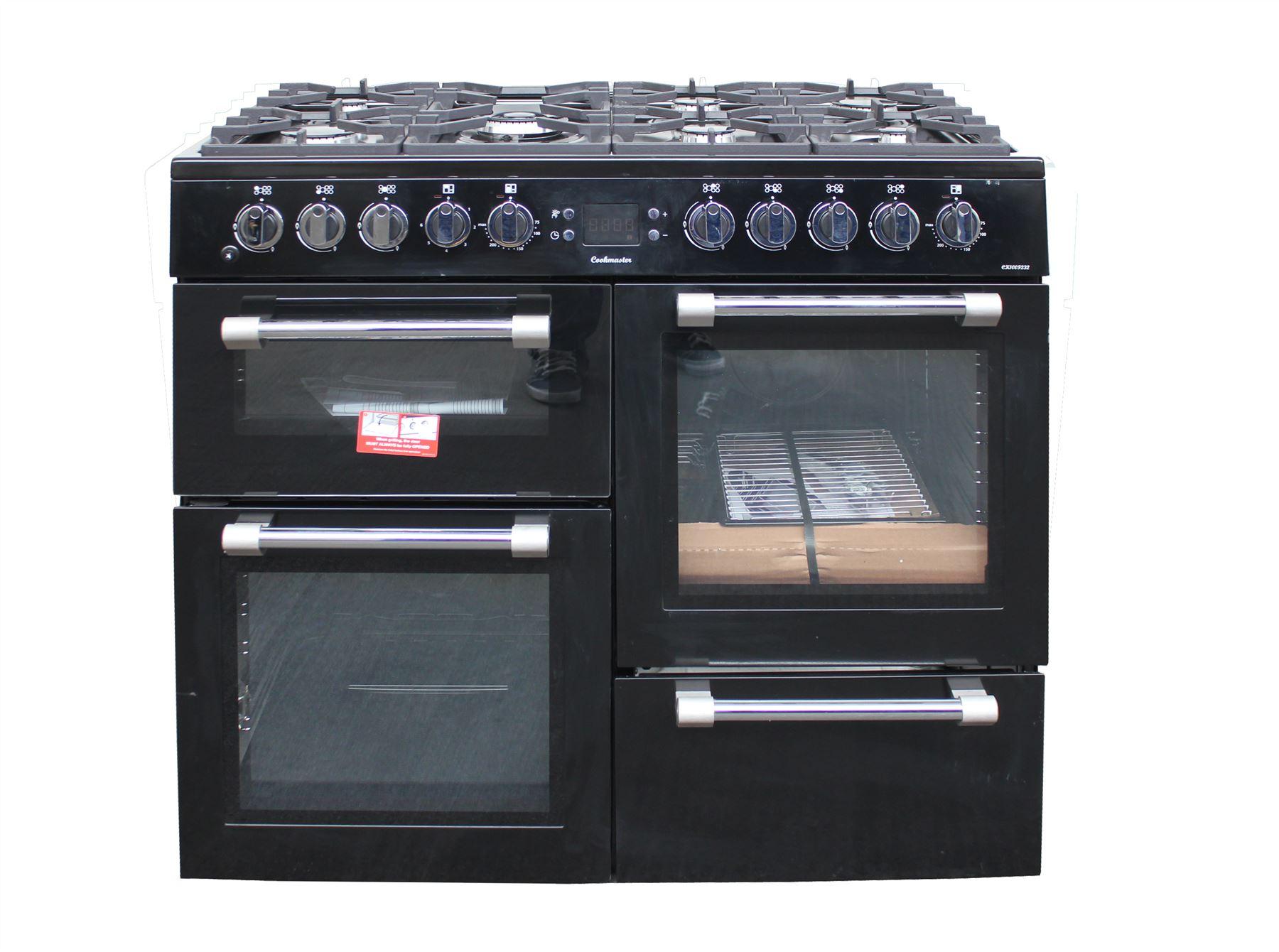 Double Double 100cm : Leisure range cooker cm ck f k double oven black