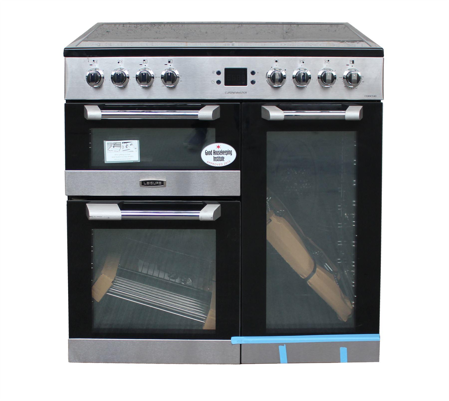Leisure 90 Cm Electric Range Cooker Cs90c530x 3 Ovens