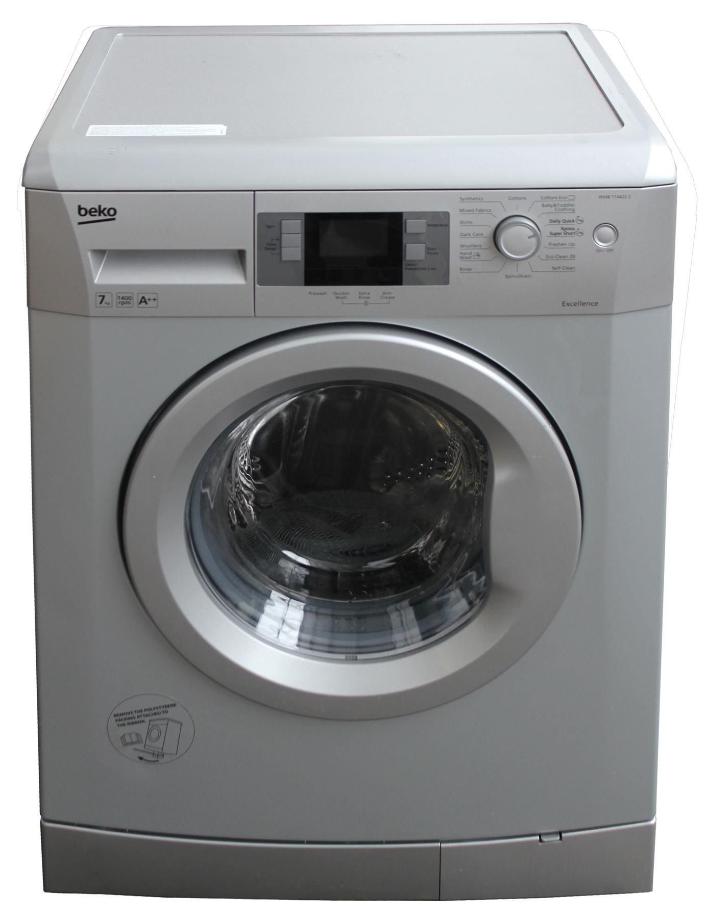 beko wmb714422s rated 7kg 1400rpm washing machine. Black Bedroom Furniture Sets. Home Design Ideas