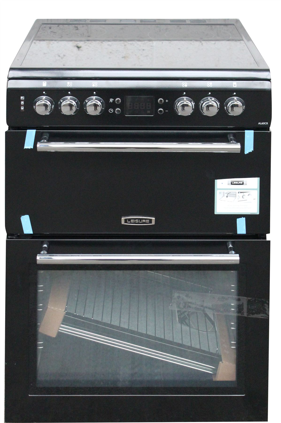 Leisure Electric Cooker 60cm Al60crk Black Double Oven