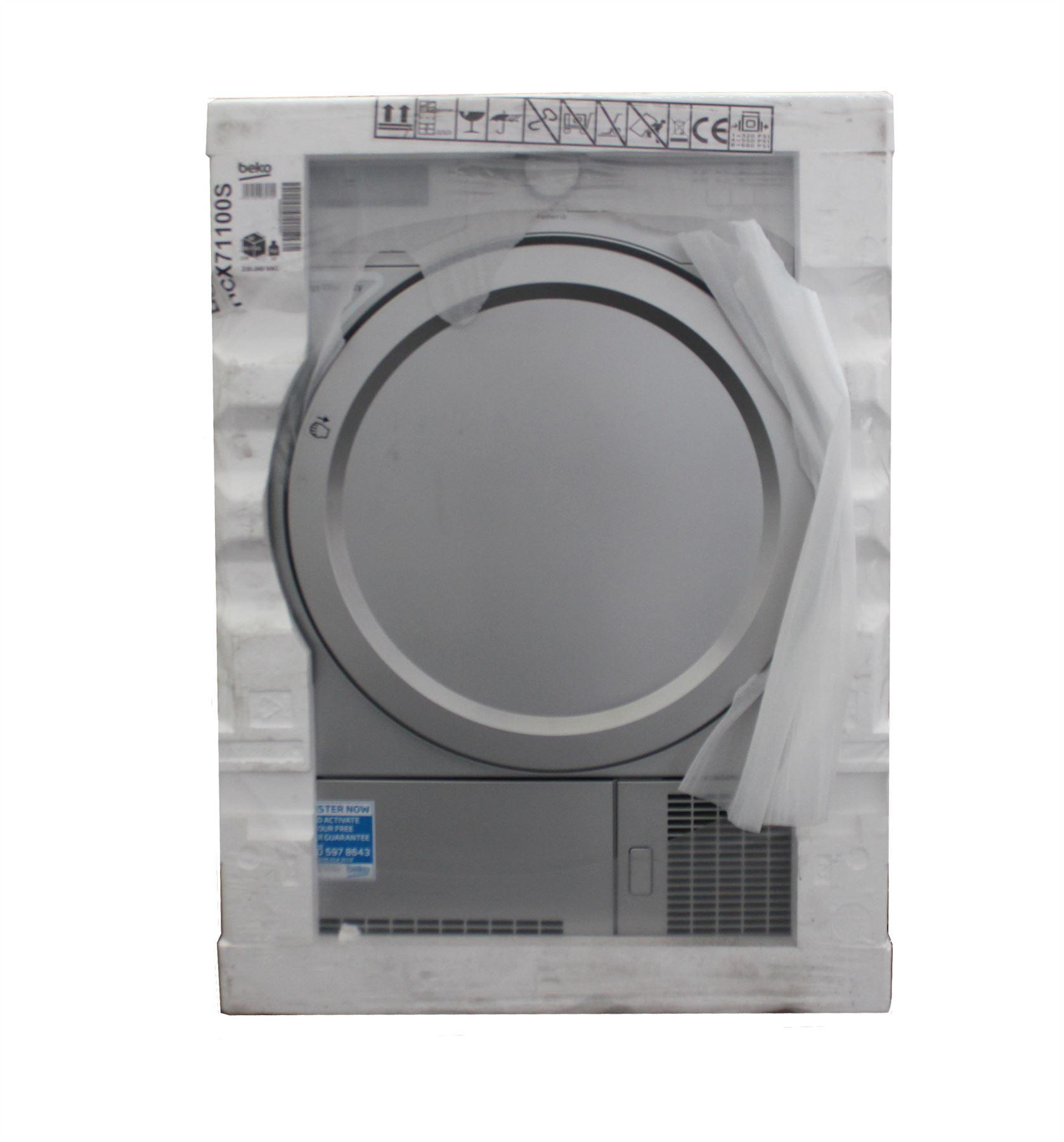 beko 7kg condenser tumble dryer dcx71100s freestanding. Black Bedroom Furniture Sets. Home Design Ideas