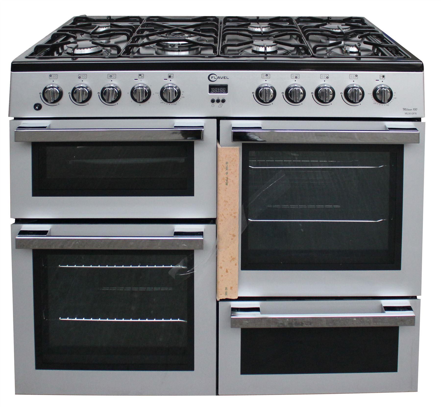 Double Double 100cm : Flavel mln frs cm range cooker double oven burner