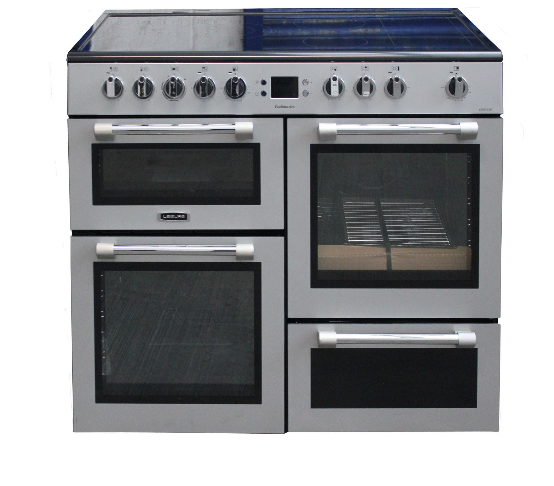 Leisure Cookmaster Ck100c210s 100cm Range Cooker Silver Ebay