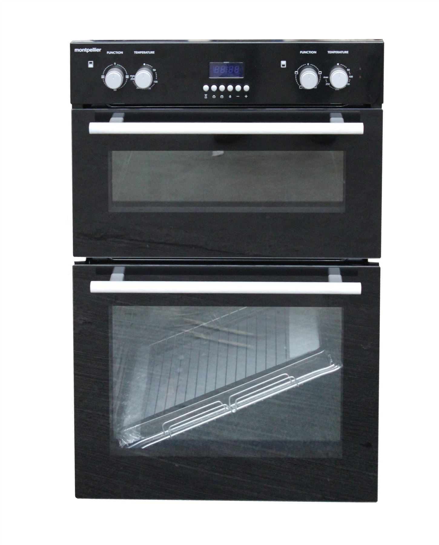 montpellier mdo90x built in double electric fan oven black. Black Bedroom Furniture Sets. Home Design Ideas