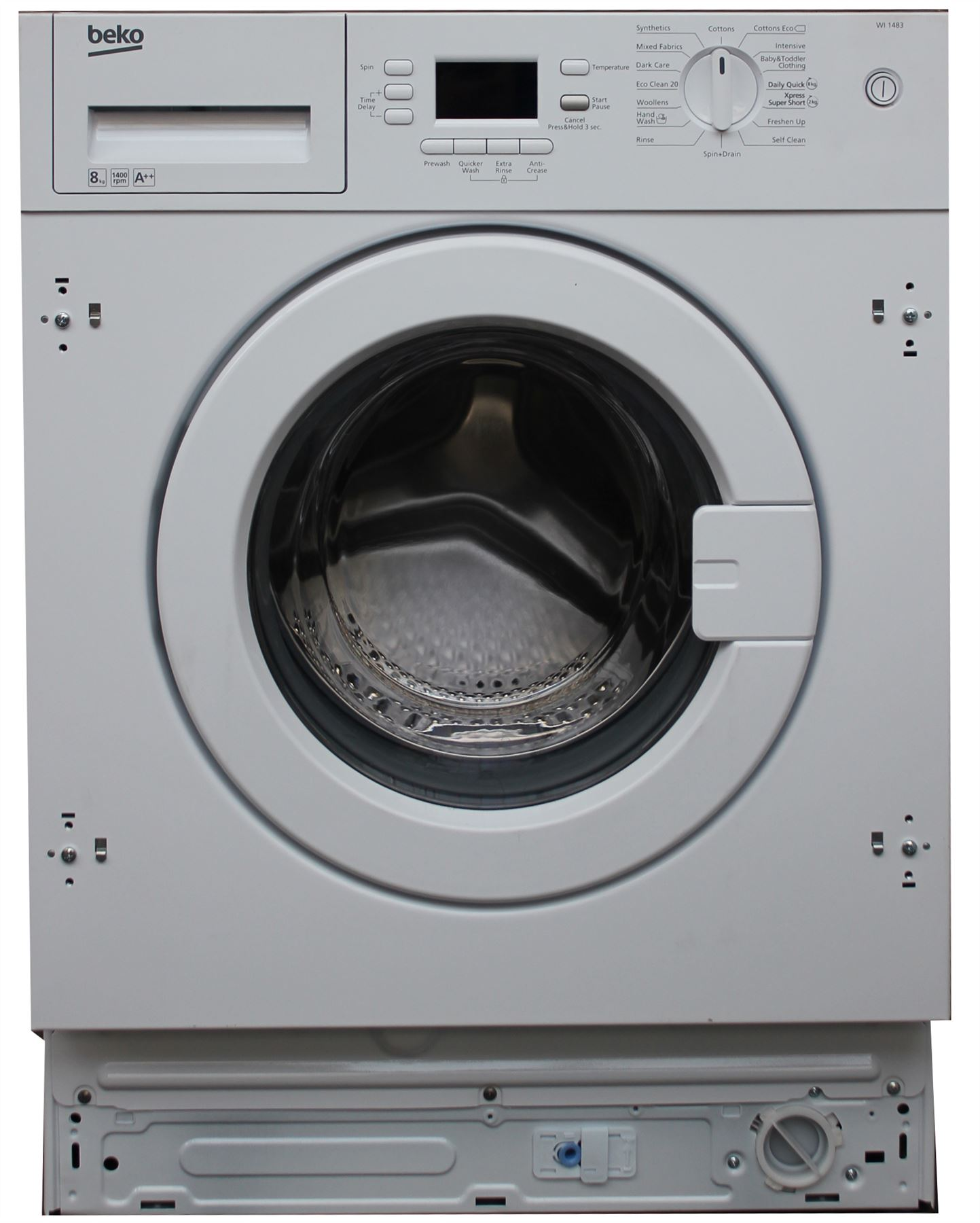beko wi1483 integrated built in 8kg washing machine a. Black Bedroom Furniture Sets. Home Design Ideas