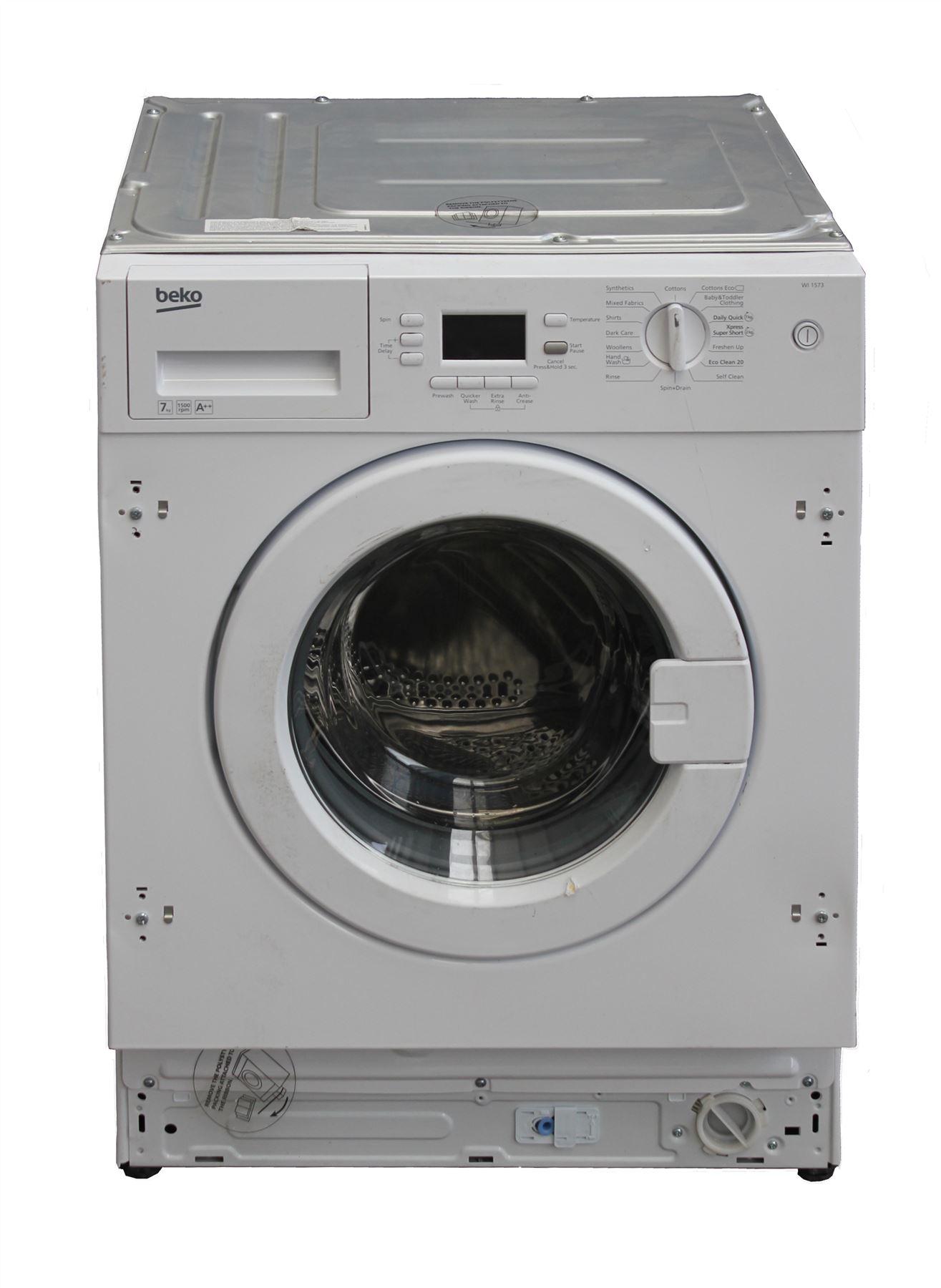 beko wi1573 integrated built in 7 kg washing machine a. Black Bedroom Furniture Sets. Home Design Ideas