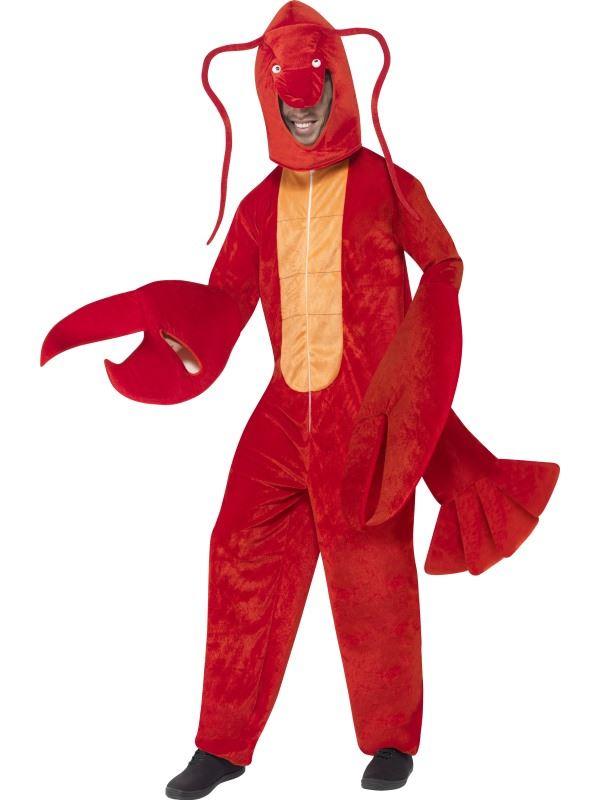 ADULTS LOBSTER COSTUME RED OCEAN ANIMAL FANCY DRESS ONESIE BODY SUIT MENS WOMENS   eBay