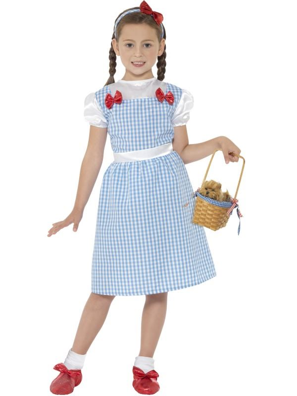 GIRLS-DOROTHY-COUNTRY-GIRL-COSTUME-FANCY-DRESS-CHILDRENS-WIZARD-OF-OZ-OUTFIT