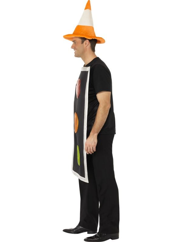 Traffic Cone Hat Costume With Traffic Cone