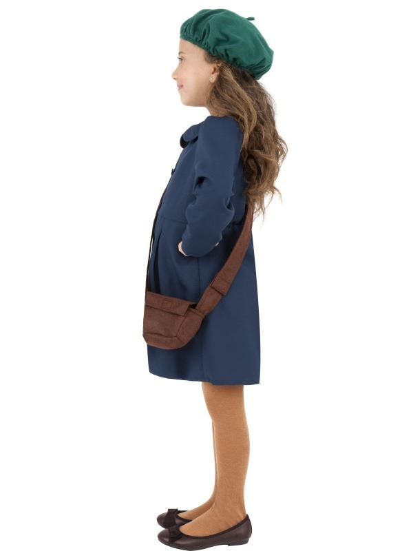 CHILDRENS-WORLD-WAR-II-EVACUEE-GIRL-FANCY-DRESS-COSTUME-WW2-OUTFIT