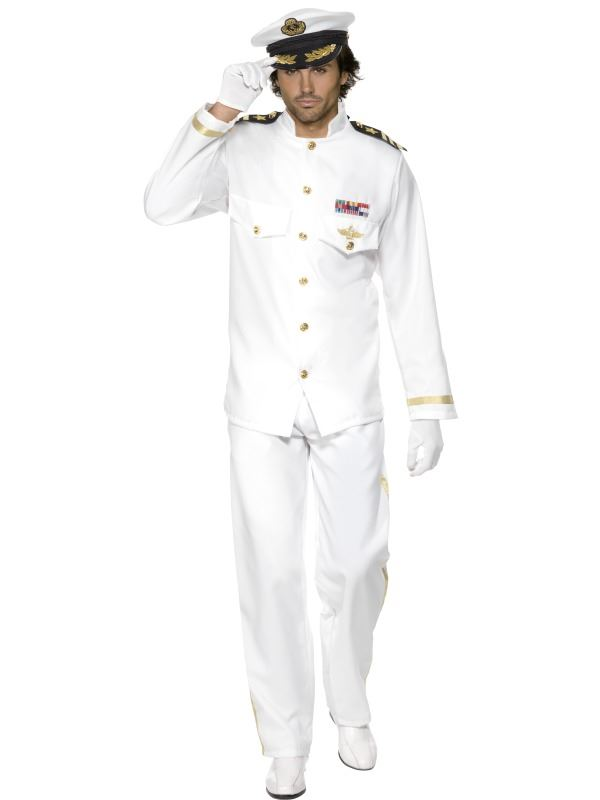 MENS-DELUXE-CAPTAIN-COSTUME-FANCY-DRESS-WHITE-NAVY-SEA-SAILOR-MILITARY-OUTFIT