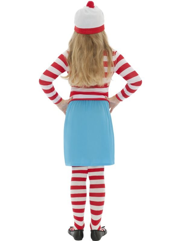GIRLS-WHERES-WALLY-WENDA-CHILD-FANCY-DRESS-COSTUME-RED-WHITE-STRIPED-OUTFIT