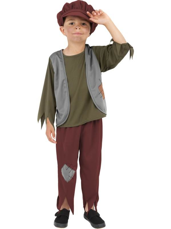 BOYS-VICTORIAN-POOR-BOY-FANCY-DRESS-COSTUME-KIDS-OLIVER-TWIST-VICTORIAN-OUTFIT