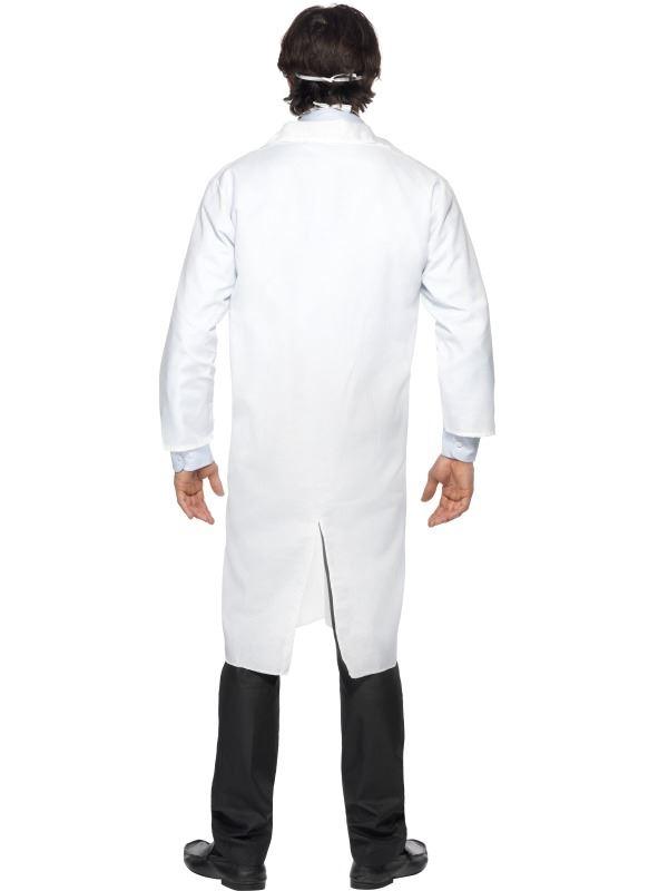 MENS DOCTOR COSTUME WHITE LAB COAT HOSPITAL UNIFORM SCIENTIST FANCY DRESS OUTFIT