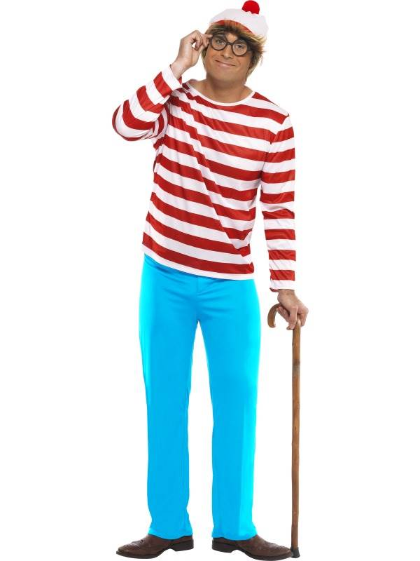 MENS-LICENSED-WHERE-039-S-WALLY-COSTUME-FANCY-DRESS-OUTFIT-RED-WHITE-JUMPER