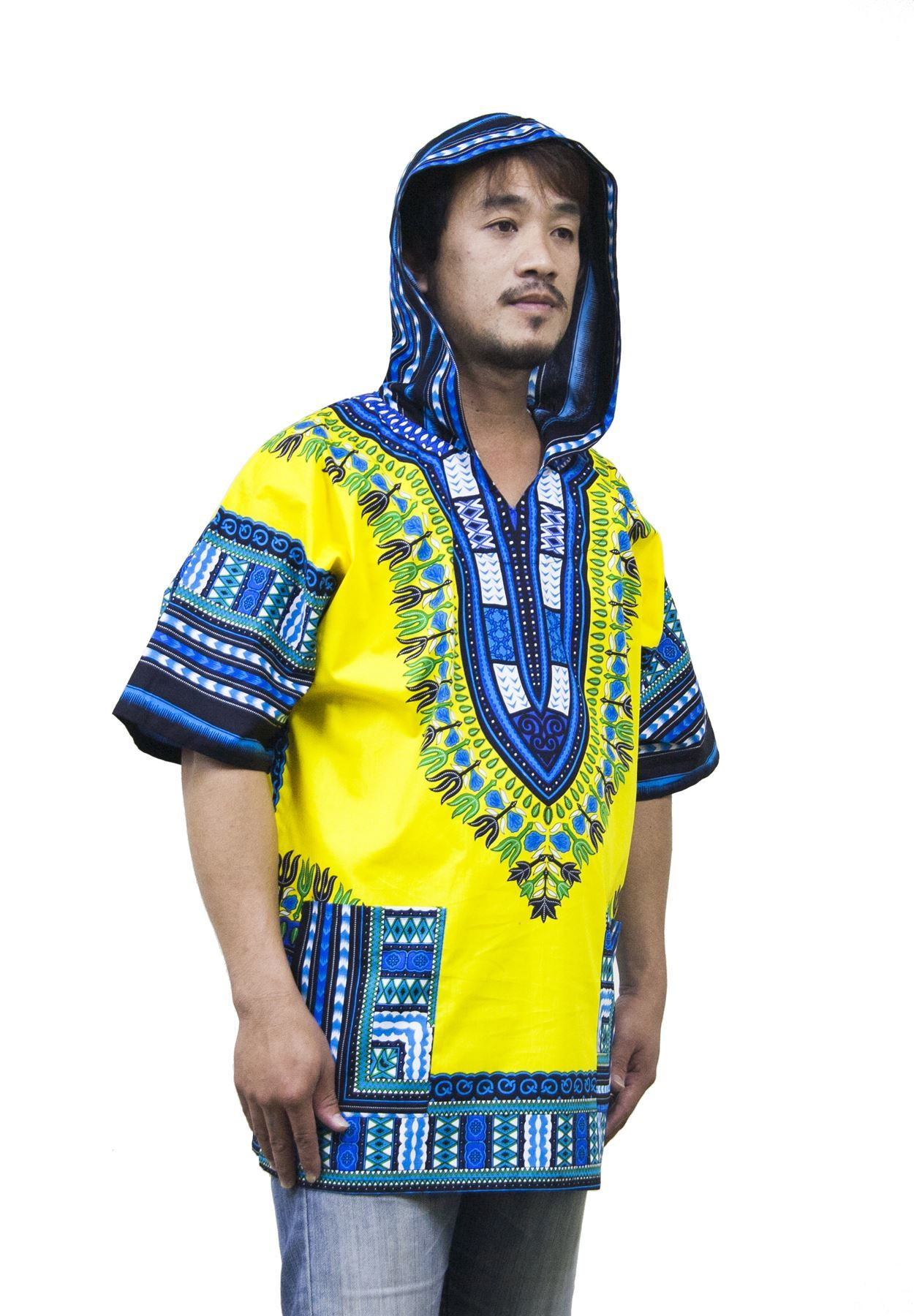Lofbaz Traditional African Shirt Unisex Dashiki Hoodie ...